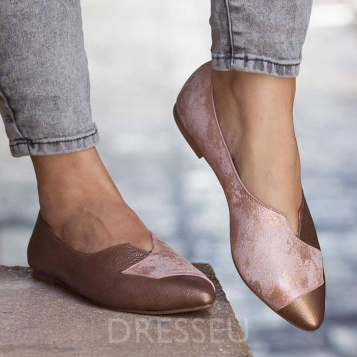 ff76db5f9a45c Pointed Toe Flat With Slip-On Casual Vintage Women's Shoes in 2019 ...