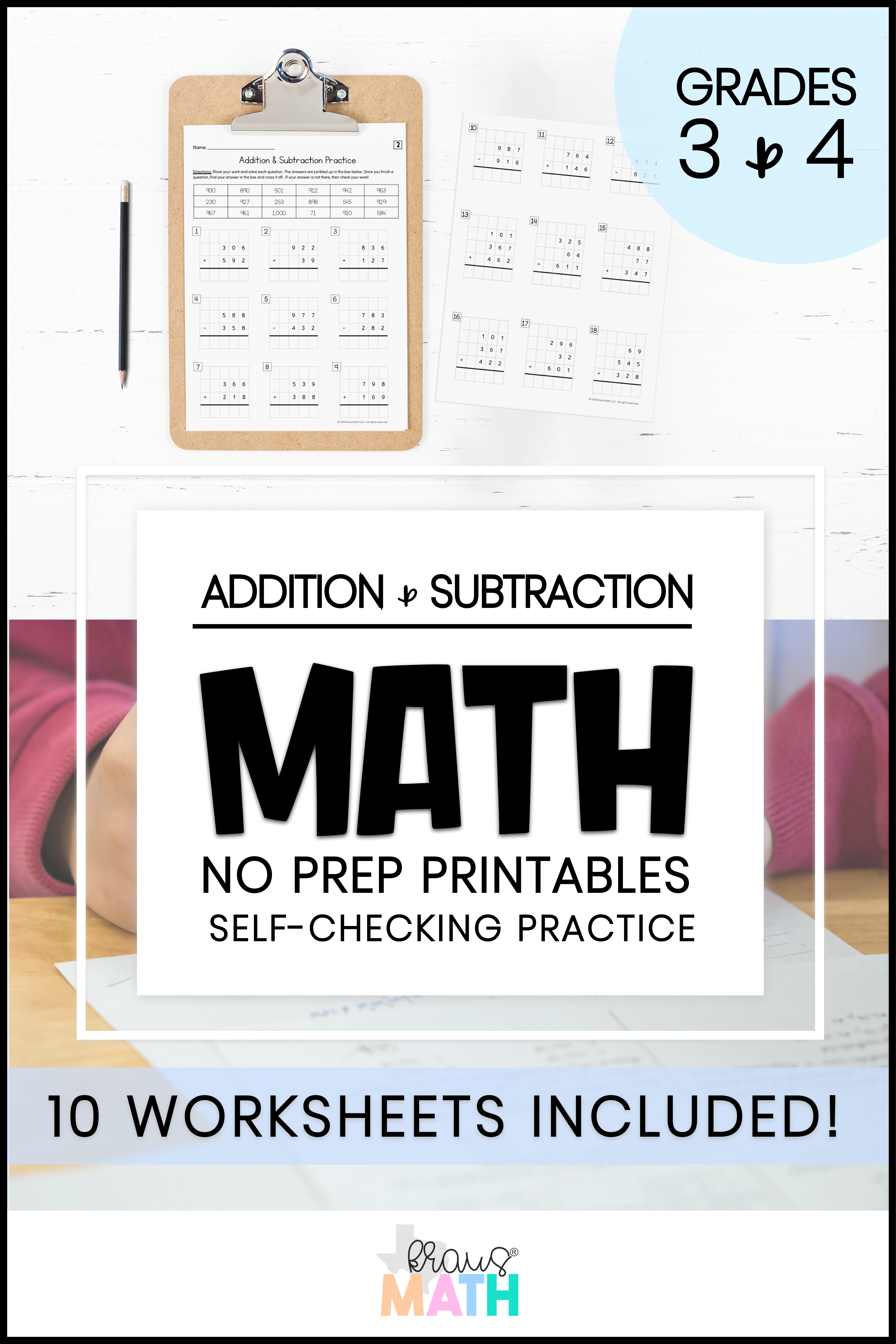 Addition Amp Subtraction Self Check Worksheets