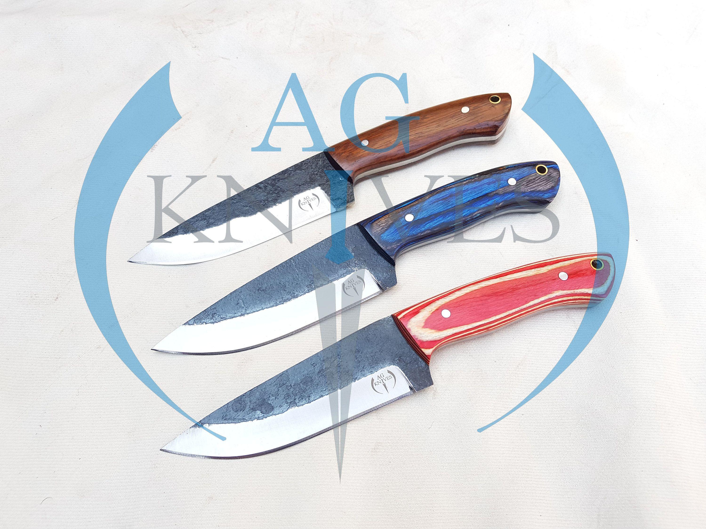 Lot Of 3 Handmade High Carbon Steel Hunting Skinner Knives Etsy In 2020 High Carbon Steel Carbon Steel Handmade