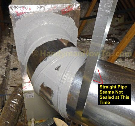 How To Seal Sheet Metal Duct With Mastic Air Conditioner Ducts Duct Work Sheet Metal