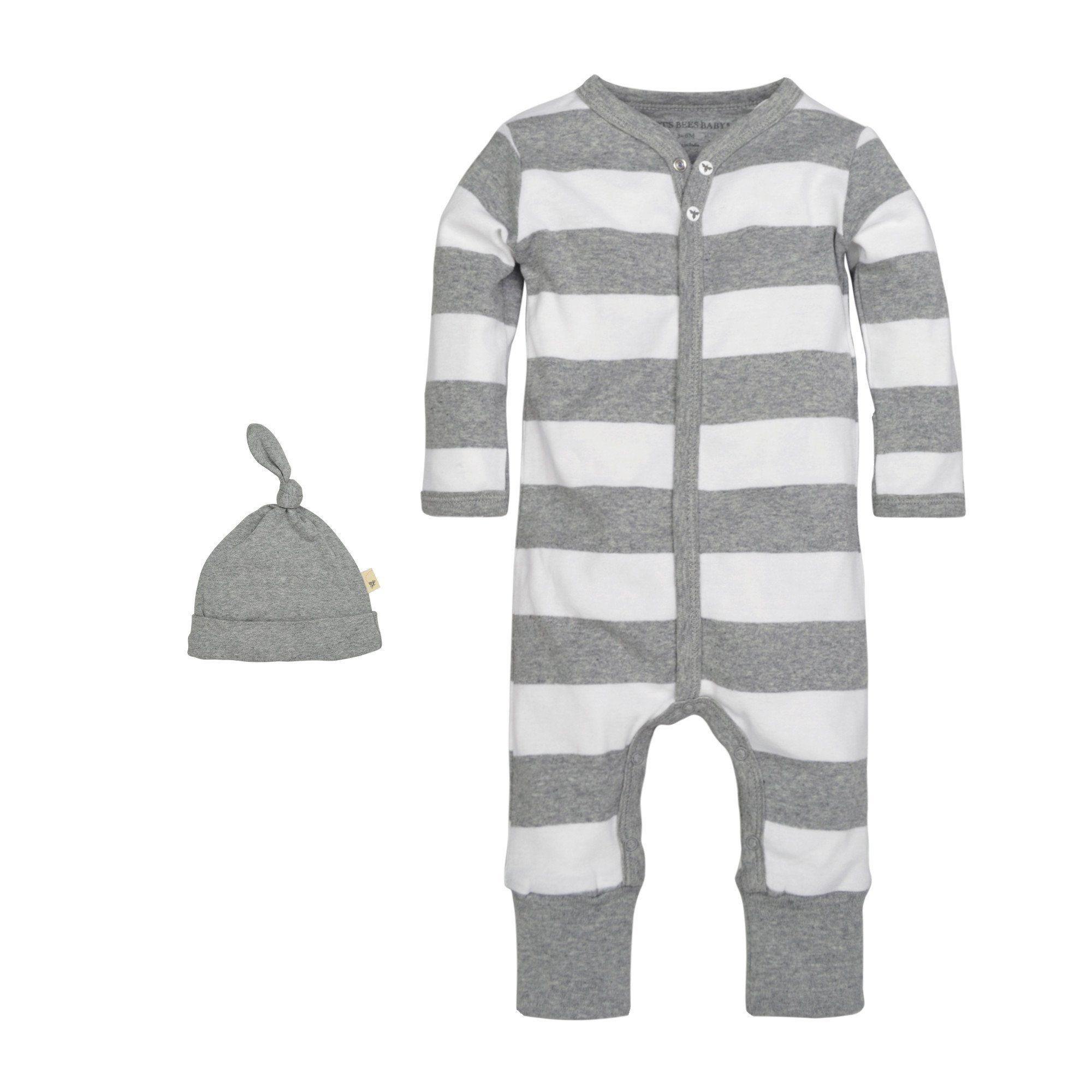 3 Colors Burt/'s Bees Baby Girls/' Long Sleeve Organic Footless Coverall