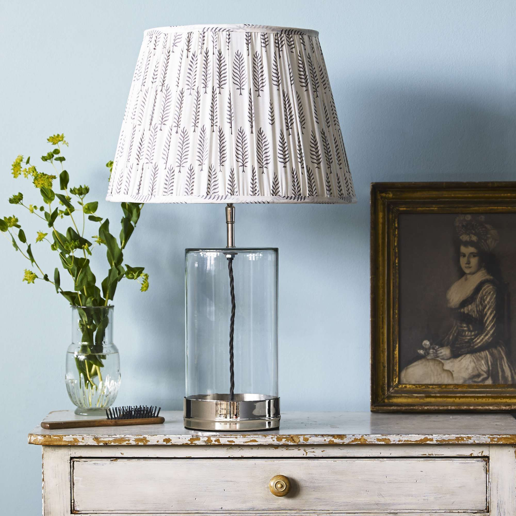 Regular Wisteria Table Lamp In Nickel And Clear Glass In 2020 Lampe Glaslampen Lampentisch