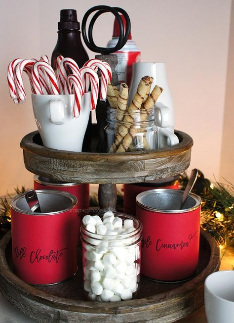Hot Chocolate Station #christmasdecor
