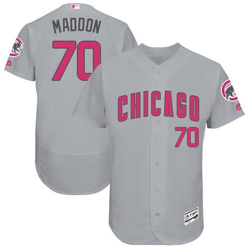 f486a84d92b Cubs  70 Joe Maddon Grey Flexbase Authentic Collection Mother s Day  Stitched MLB Jersey