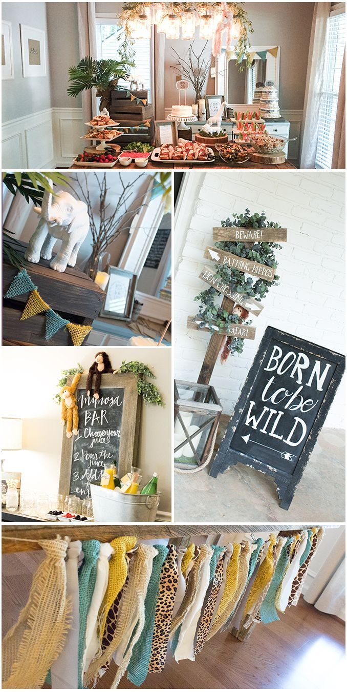 52d64605aa9 ... clean and modern take on a safari animal theme with this Born to be  Wild baby shower brunch from event designer