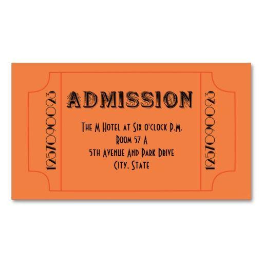 Roaring 20u0027s Speakeasy Theme Party Tickets Business Card Templates - party tickets templates