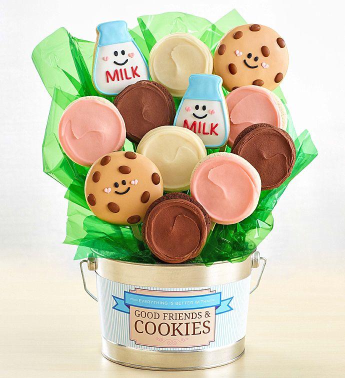 235 & Good Friends and Cookies Flower Pot | Cookie Flowers | Cheryls.com ...