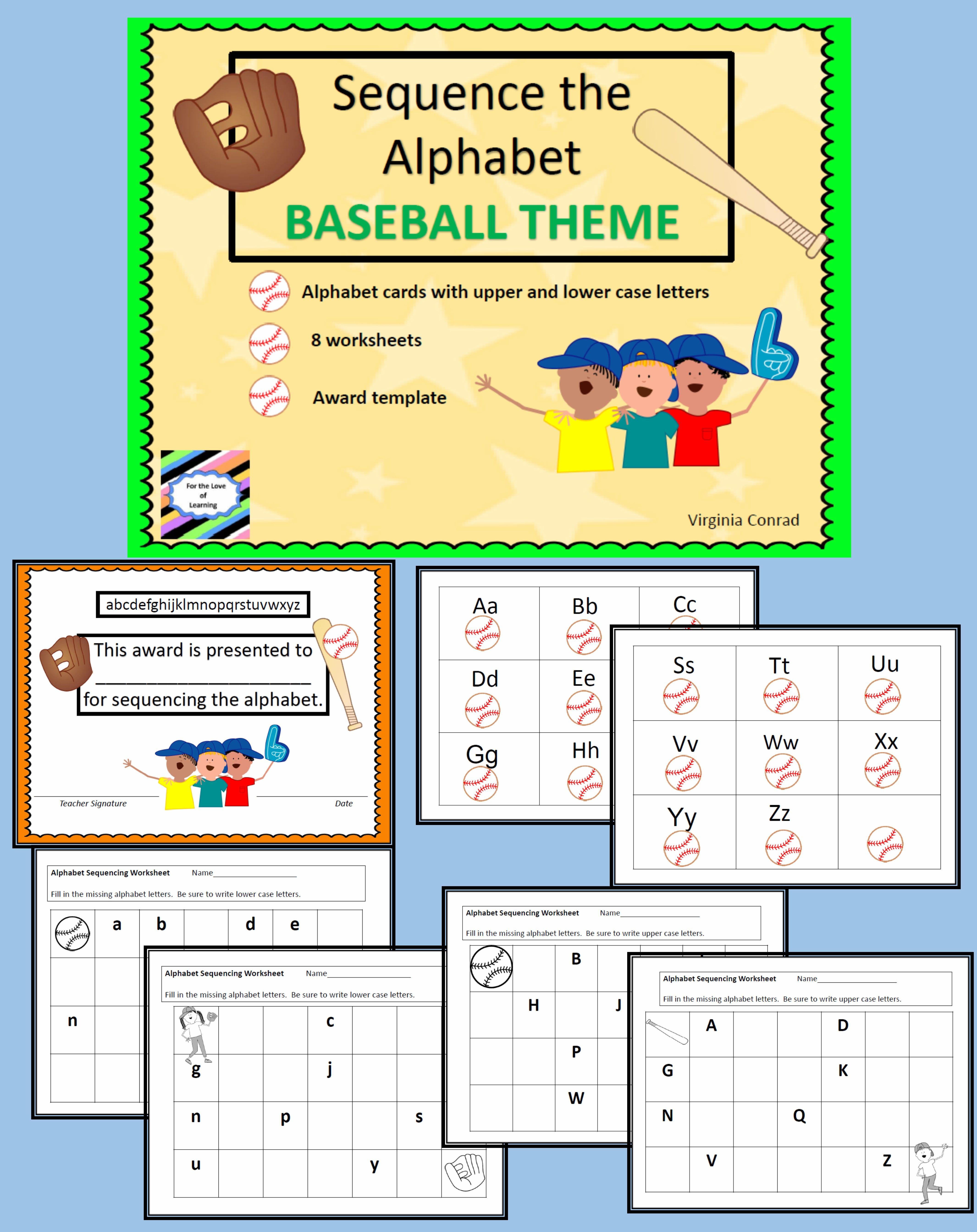 Alphabet Sequencing Baseball Theme