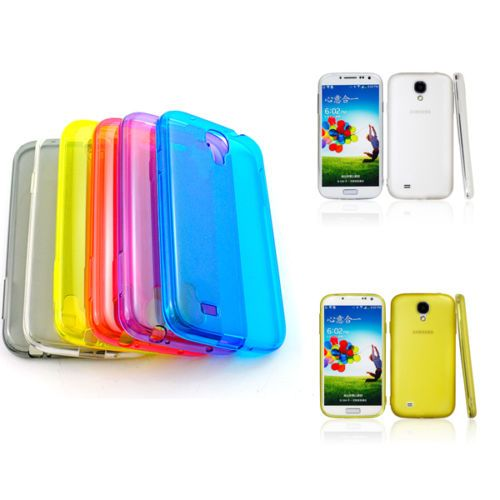 Colorful TPU Transparent Clear Soft Jelly Case Cover for Samsung Galaxy S4 I9500