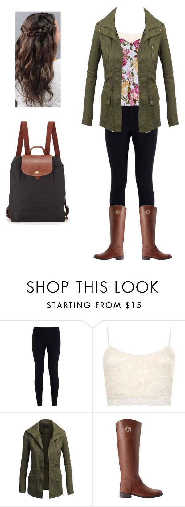 """""""Army Green Jacket"""" by laurenelizabeth1002 ❤ liked on Polyvore featuring мода, NIKE, WearAll, Tory Burch и Longchamp"""