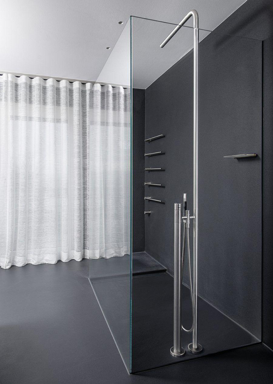 moderne fugenlose dusche mit ganzglaswnden - Fugenlose Dusche Material