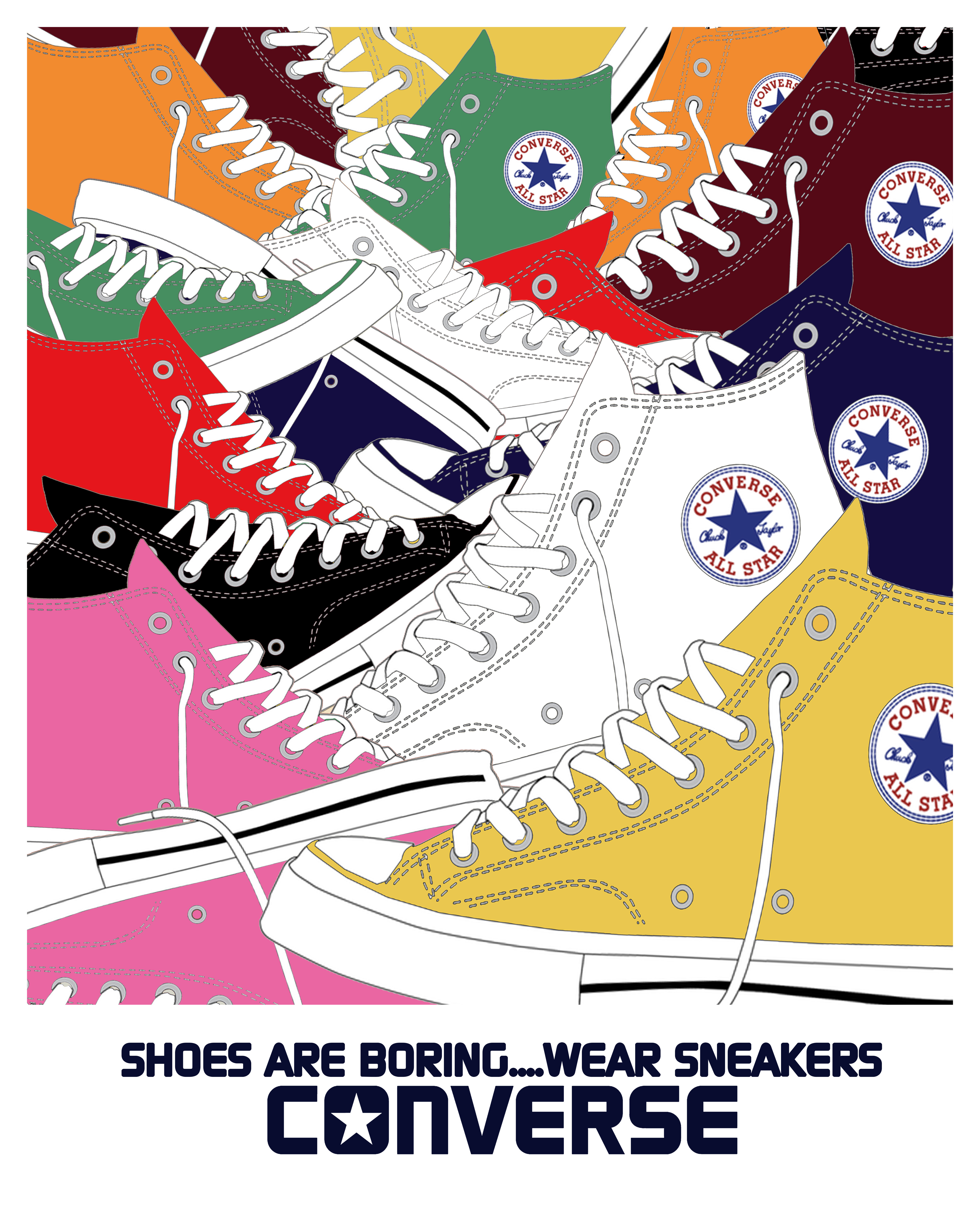 Converse All Stars 40x50cm Poster print for the iconic