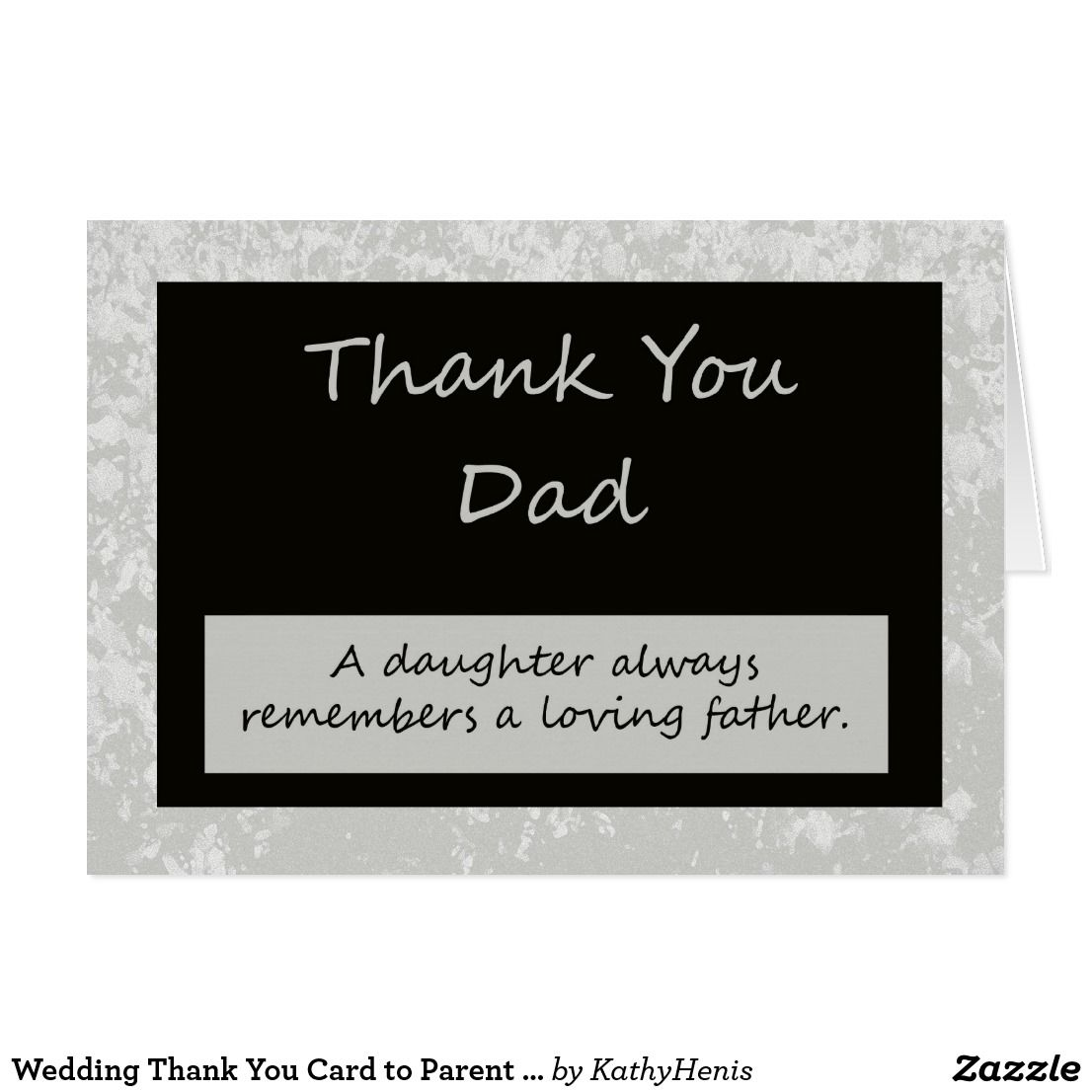 Wedding Gift For Boss: Wedding Thank You Card To Parent Dad