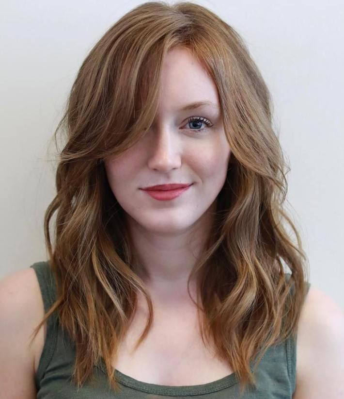 40 Flattering Haircuts And Hairstyles For Oval Faces Side Bangs