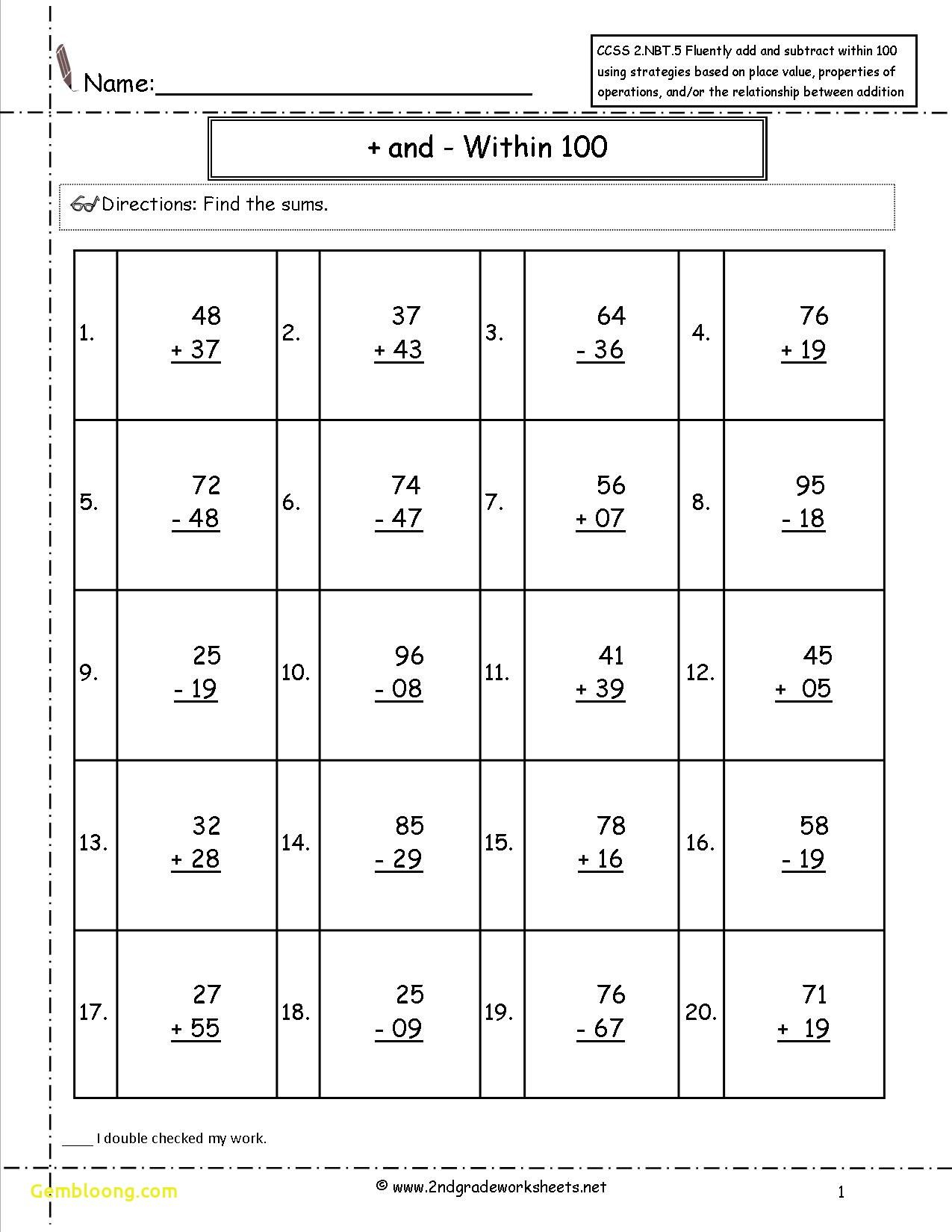 Academic Second Grade Addition Worksheets Worksheet Printable Common Core Math Worksheets 2nd Grade Worksheets Math Addition Worksheets