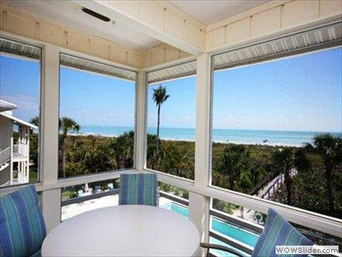Surfside 12 Is A Three Bedroom Gulf Front Two Week Minimum Vacation Rental Condo On Sanibel
