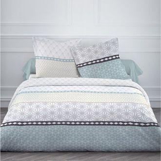 parure housse de couette 220x240cm taie coton. Black Bedroom Furniture Sets. Home Design Ideas