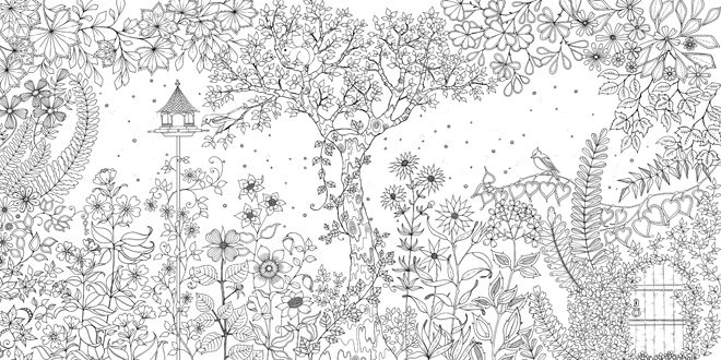 books, activity books, colouring books, children's colouring books, My Secret Garden colouring book, Johanna Basford, Laurence King, published by Bobby Rabbit
