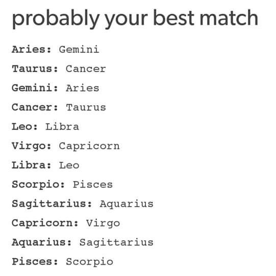 horoscope best match