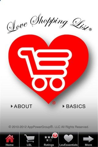 The Love Shopping List® Phone app - Is he the one? Is she the one? Unlock the Secret to Your Soulmate™ The app allows users to score relationships' chances for success and help you in your search for that ideal person. itunes.apple.com/...