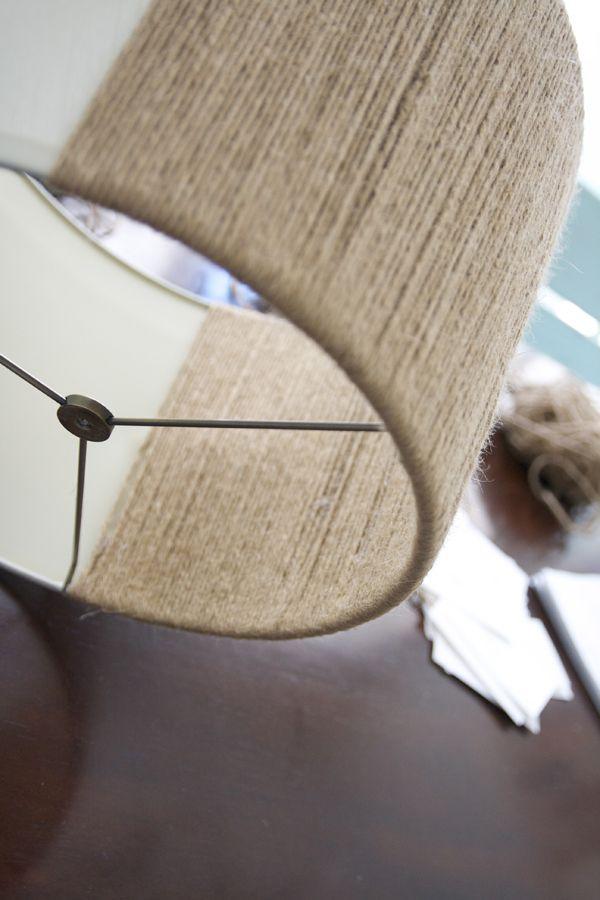 lámpara con yuteDecoración con de yute forrada hilo m0Nnw8