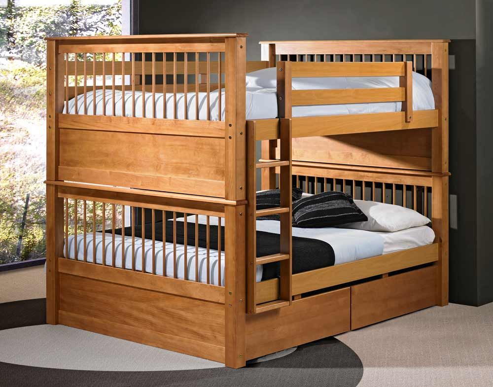 Best Solid Wood Bunk Beds Full Size I D Take The Foot Rails 400 x 300