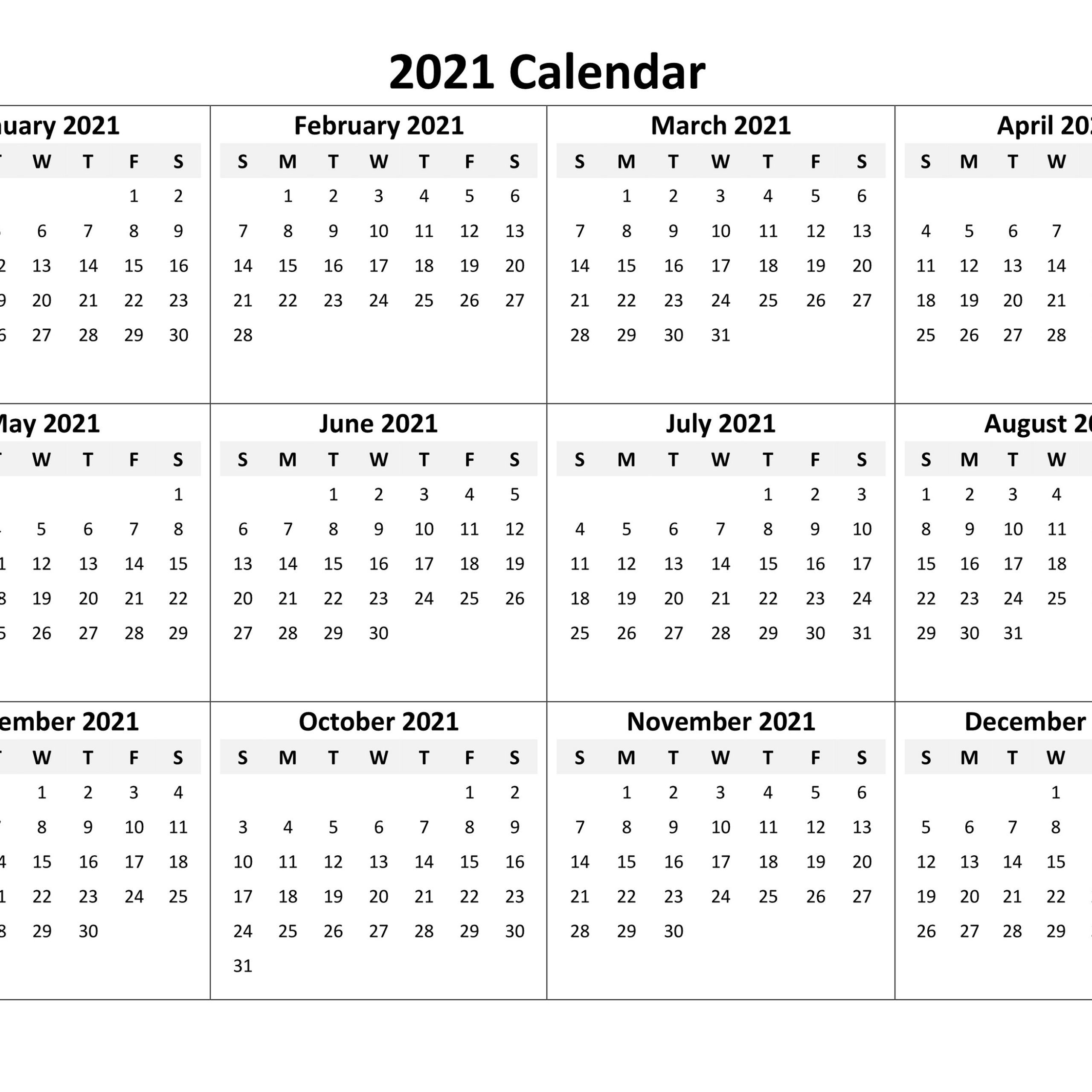 Calendar 2021 Online Di 2020