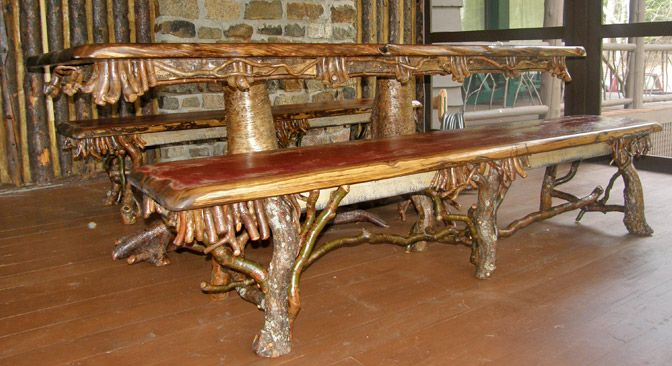 pictures of rustic furniture. Rustic+Wood+Furniture | Offering Traditional Adirondack Style Pictures Of Rustic Furniture T