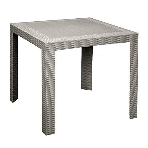 Table 80 x 80 cm simil Rattan Taupe Outdoor Furniture