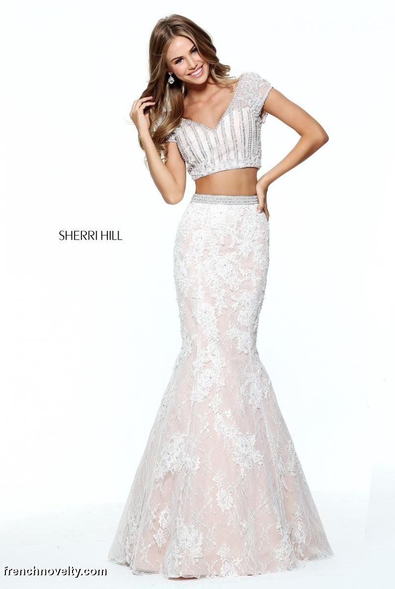 Sherri Hill 51011 Short Sleeve 2 Piece Prom Dress