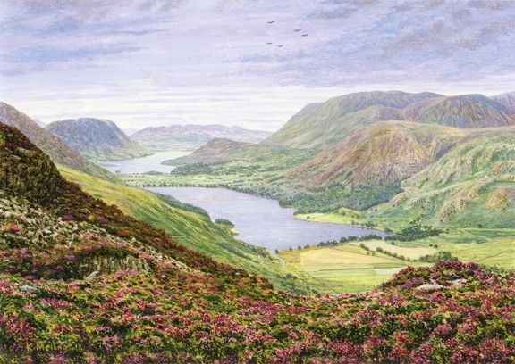 Buttermere Valley From Haystacks Lake District Keith Melling Landscape Artist Landscape Landscape Paintings