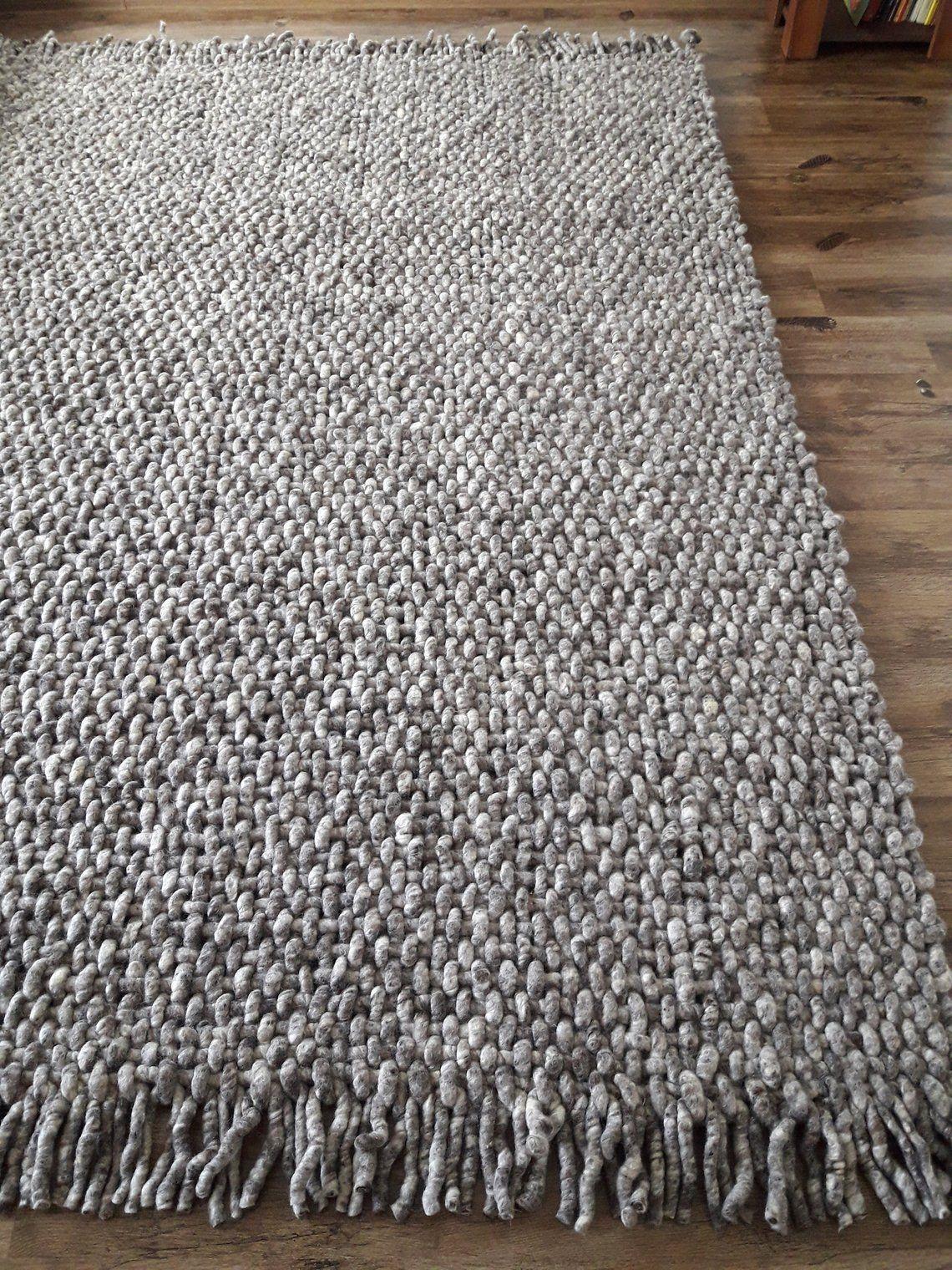 Wool Rug Woven Gray Area Rugs 8x10 Handwoven Rugs Scandinavian
