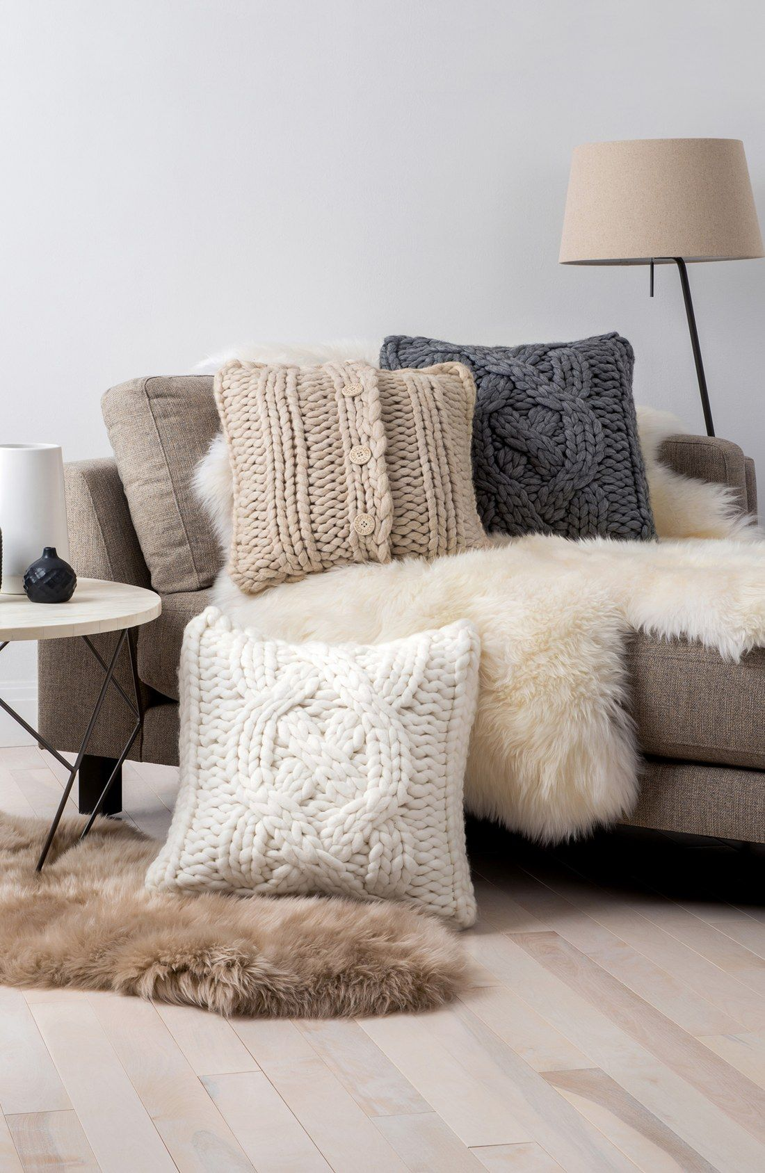ugg Australia Oversize Cable Knit Pillow nordstrom | Houses ...