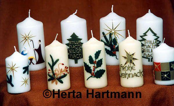 kerzen verzieren weihnachten  GoogleSuche  Kerzen
