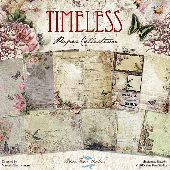Reserved For Necee Blue Fern Timeless Collection 12 X 12 Etsy Blue Fern Studios Blue Fern Scrapbook Paper