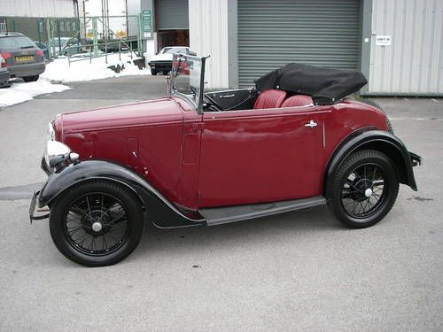 austin seven opal two seater tourer convertible 1936 on. Black Bedroom Furniture Sets. Home Design Ideas