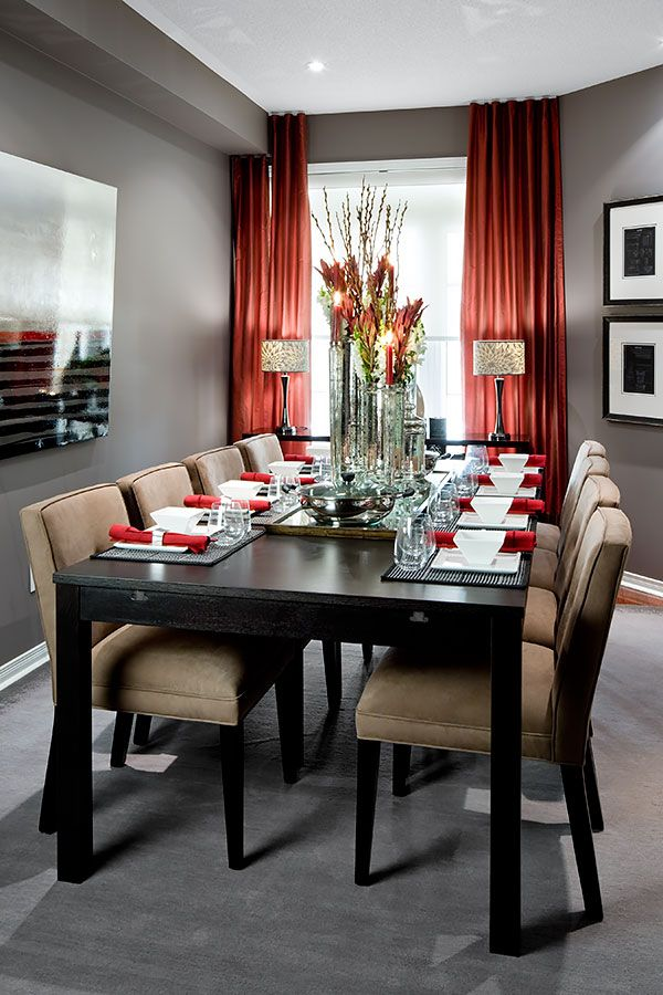 Dining Rooms  Jane Lockhart Interior Design  Formal Dining Mesmerizing Grey And Red Dining Room 2018