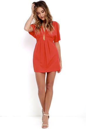 1139d45a50c Game Changer Coral Red Dress at Lulus.com!
