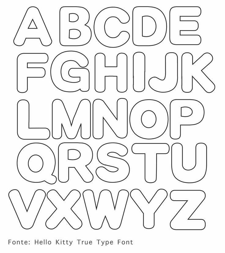 Mi Cestita Del Parque Letras De Fieltro 3 Descargable Moldes De Letras Letras Para Imprimir Letras Grandes Para Imprimir