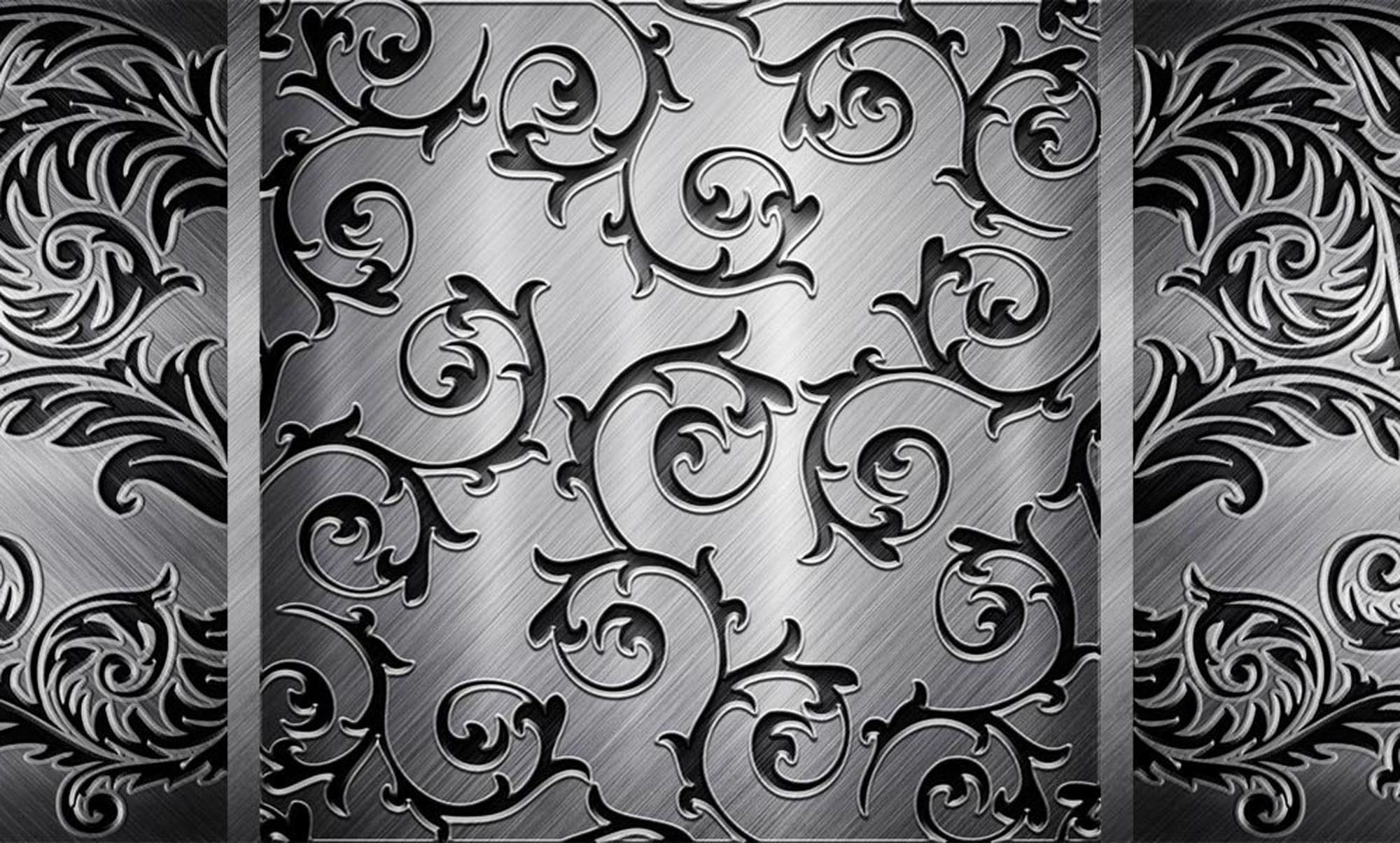 Textures Wallpapers Vintage Texture Steel Black Gray Pattern S