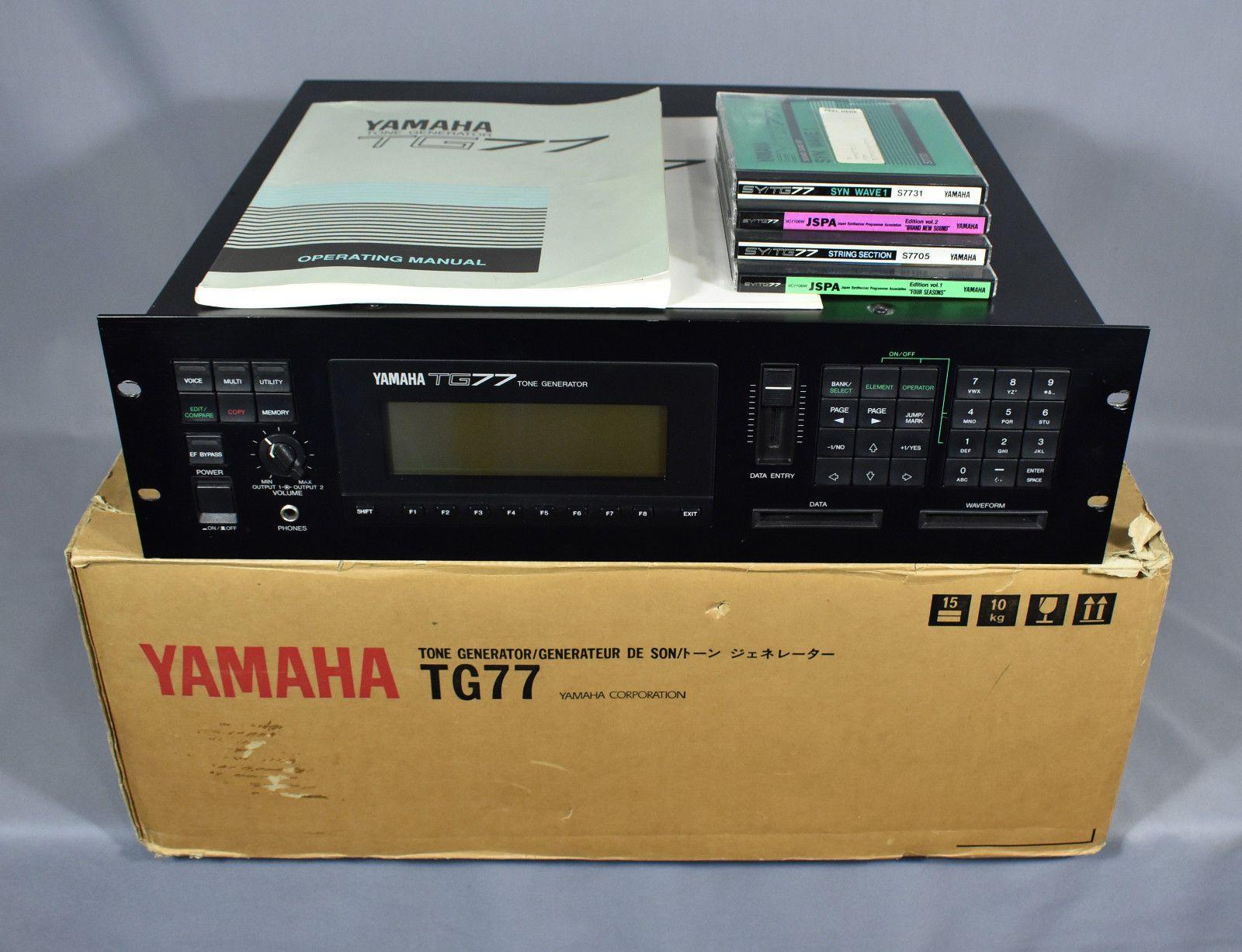 80s Yamaha TG77 Tone Generator Synthesizer w/ Sound Cards