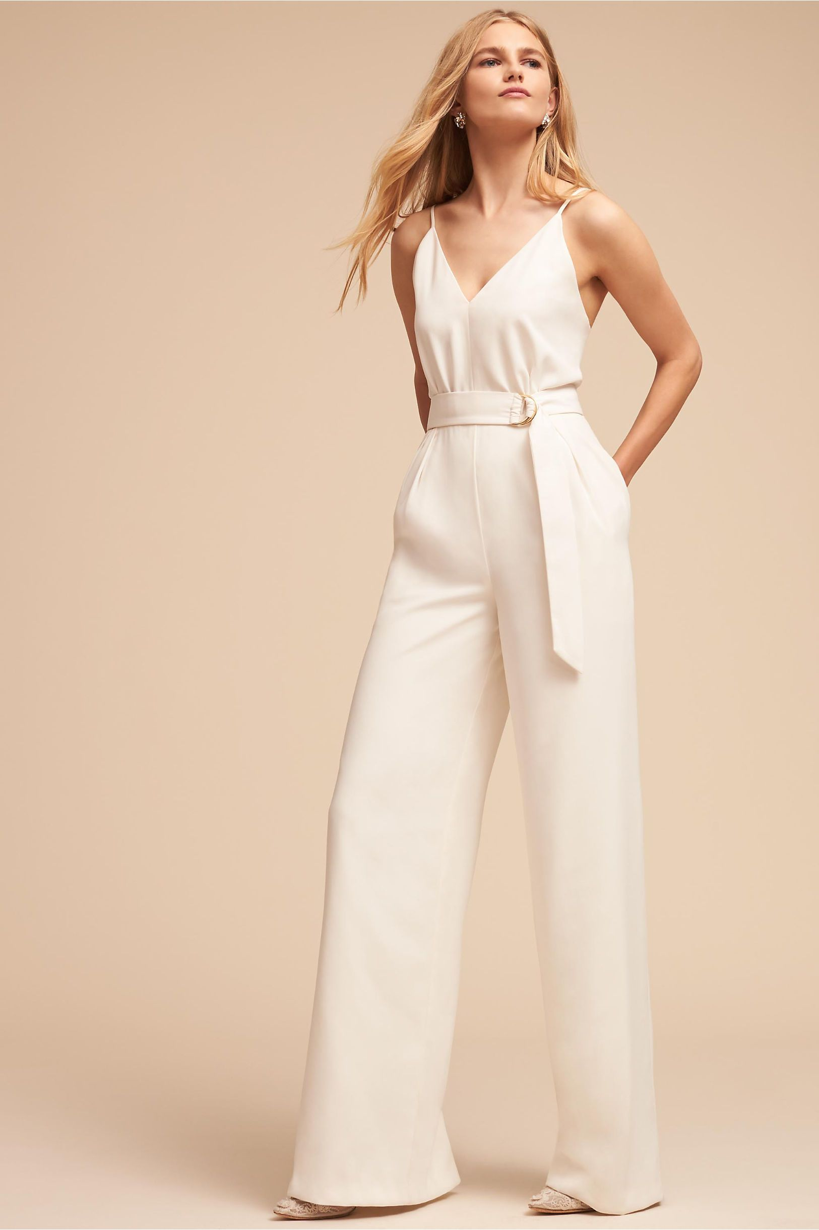 Bhldns Jill Jill Stuart Isla Jumpsuit In Ivory Products Bridal