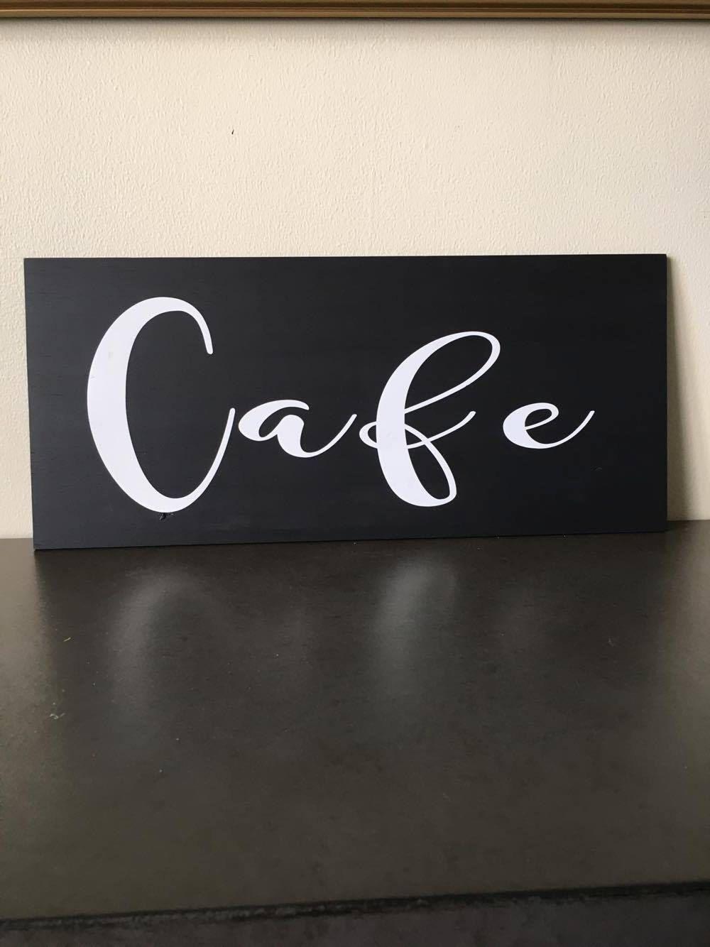 cafe sign cafe home decor cafe wood sign hand painted wood cafe sign - Painted Wood Cafe Decoration