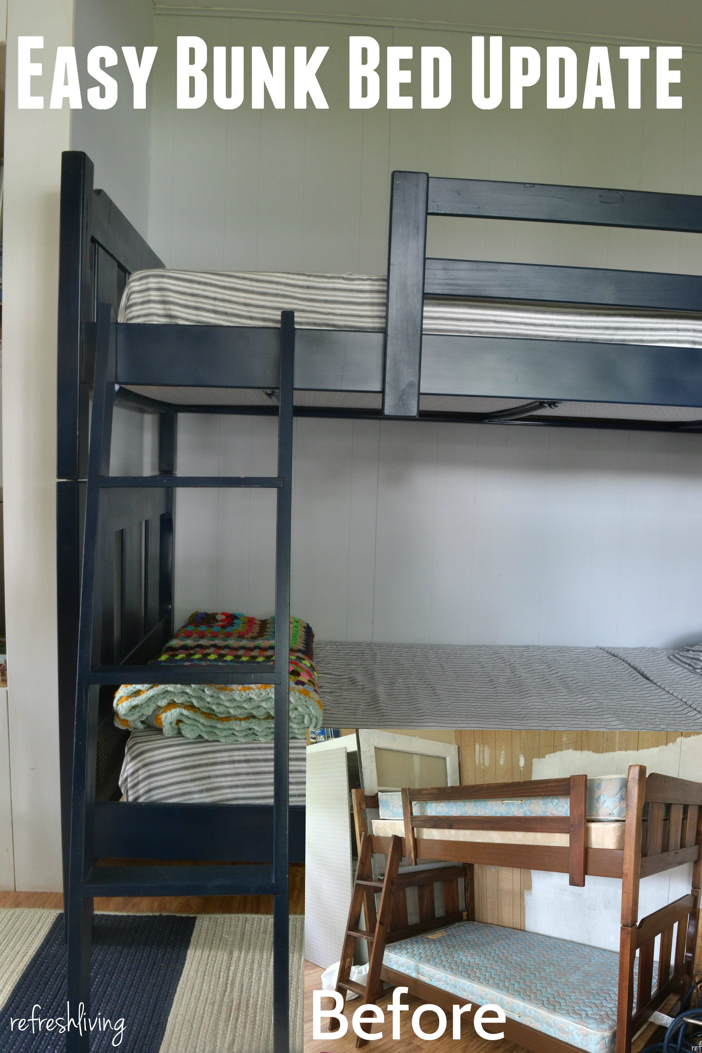 painted bunk beds with fabric Updated u0026