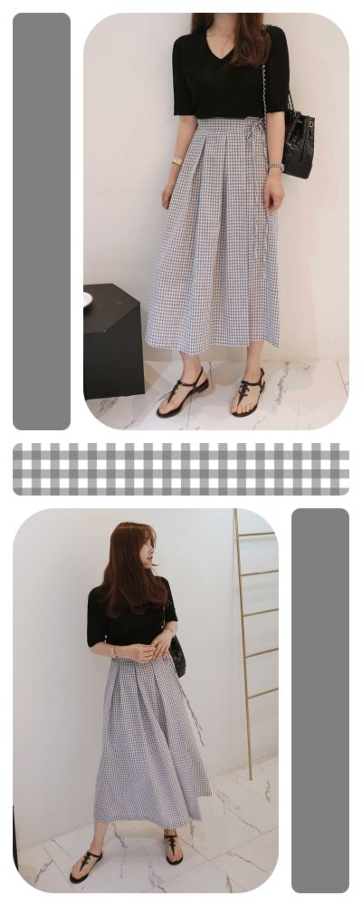 1a218e12cd Get yourself ready for your next picnic date with this Gingham Check Wrap  Skirt. With
