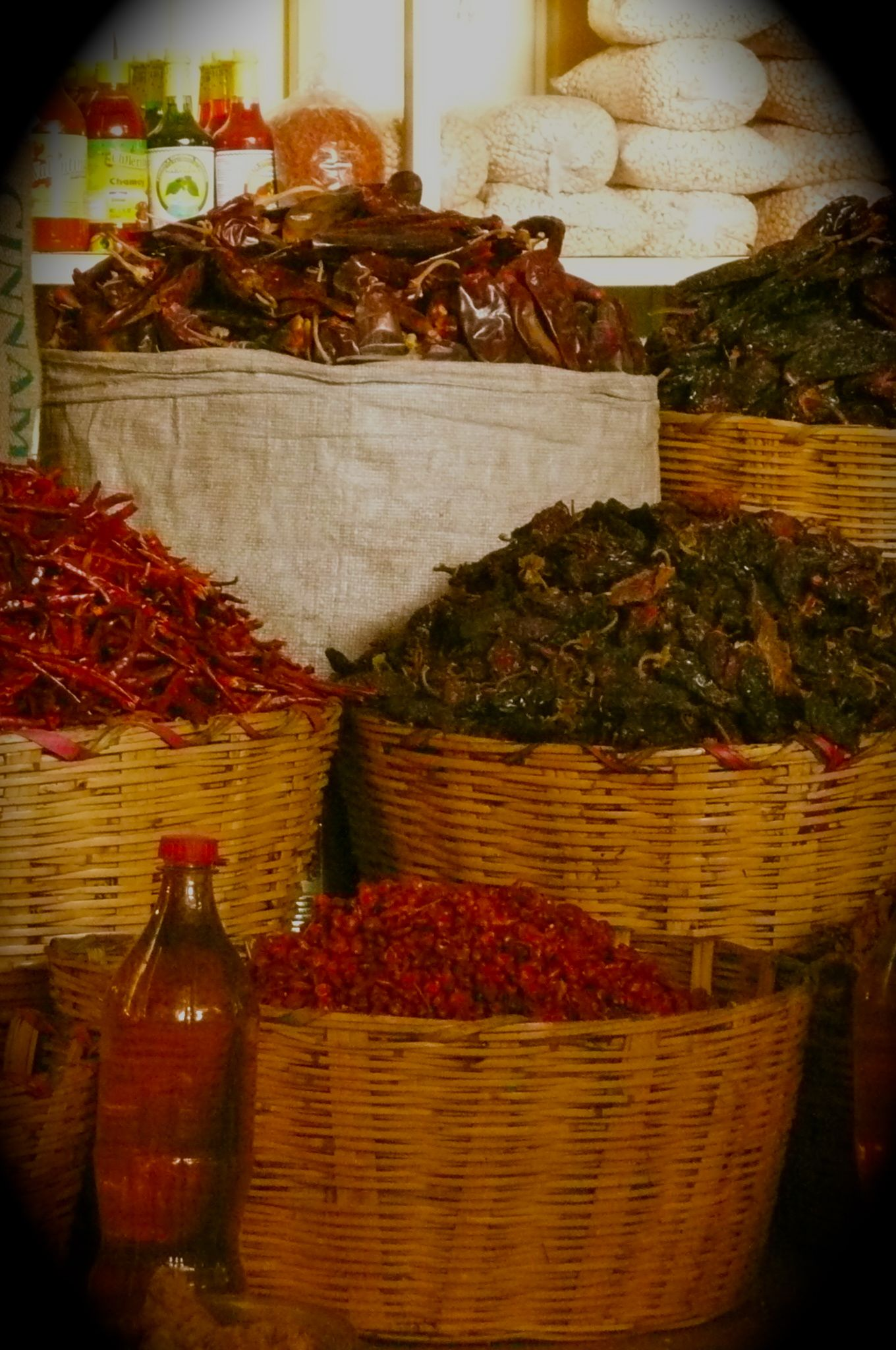 Chillies at the Oaxaca market #Mexico