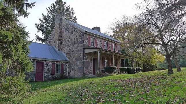 Spring City PA Historic Circa 1800 Webster K Setzler Stone Farmhouse In A Secluded