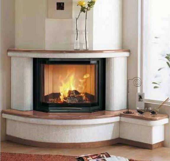 Modern round corner fireplace village Creative fireplaces