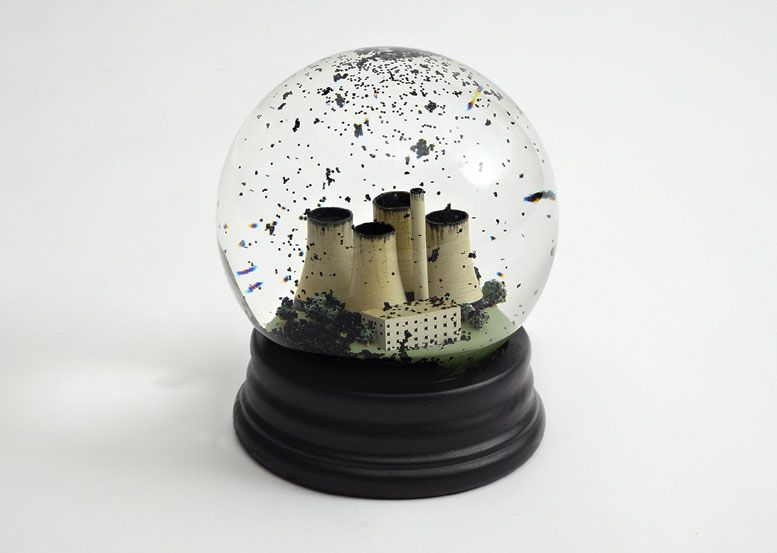 Carbon Black Snow Globe