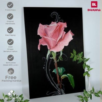 background bunga dekorasi - lukisan bunga mawar background